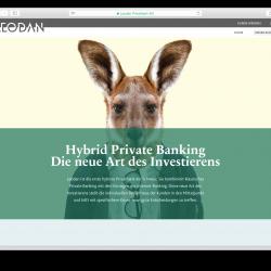 Screen shot of the Leodan website (2015)